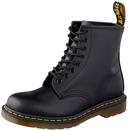 Dr. Martens 1460 Originals 8 Eye Lace Up Boot, Black Smooth Leather, 10UK / 11 US Mens / 12 US Womens, 45 EU