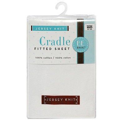 BE Basic™ Bambino Basics Jersey Knit Cradle Sheet in White BE BasicTM