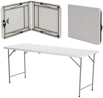 Mesa plegable de plástico duro de 1, 8 m para exterior, banquetes ...