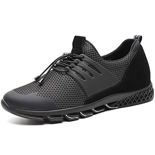 h71c62v012d Avec Chamaripa Taller Légères Levage Sneakers Sports De Caché Gris Homme Chaussures Pour 7cm Ascenseur Talon Décontractées Noir2 Noir Bleu xR1CWYRUqw