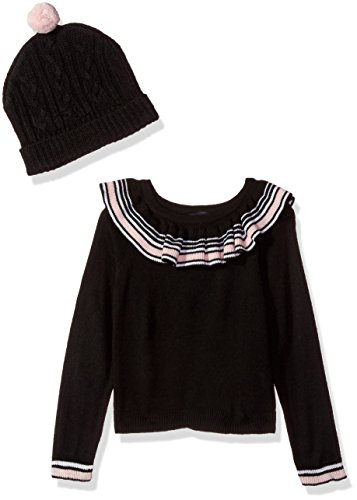 Limited Too Little Girls' Pullover Sweater (More Styles Available), Black, 4
