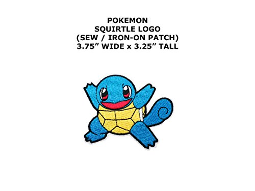 Squirtle Pokemon DIY Embroidered Sew or Iron-on Applique Patch Outlander Gear - Squirtle Costume Diy