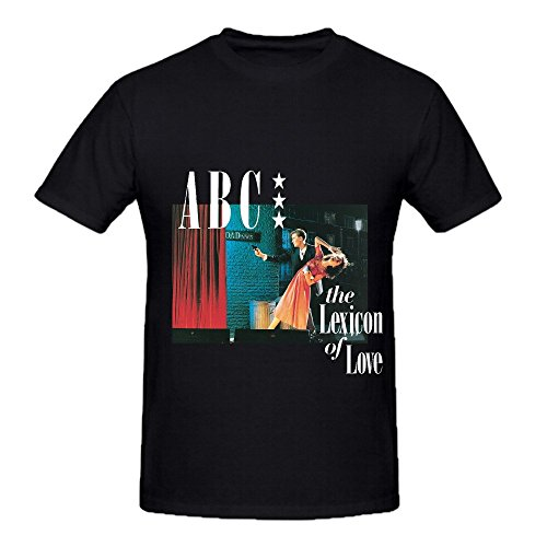 (Abc The Lexicon Of Love Tour Soul Mens Crew Neck Customized T Shirts Black )