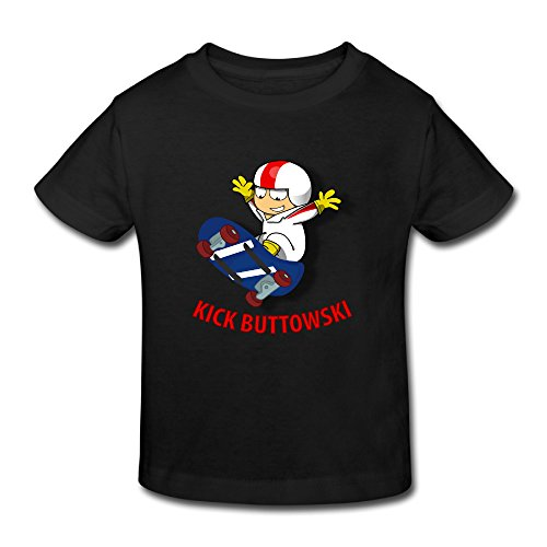 KNOT Fashion Kick Buttowski Suburban Daredevil2 Kids Toddler T-Shirt Black US Size 2 Toddler (Kick Buttowski Games)