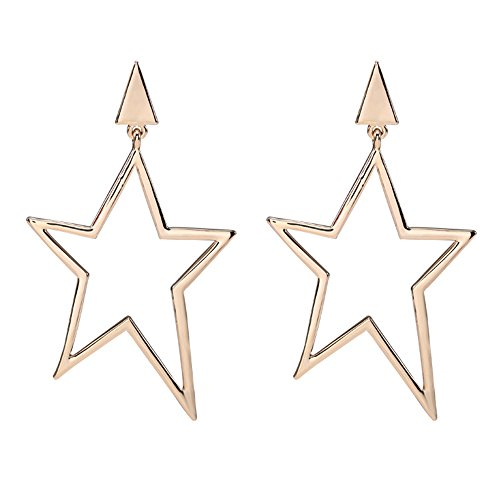 CHUYUN Sweet Gold Star Earrings for Women Fashion Jewelry Casual Women Accessories (silver) (Casual Earrings Gold)