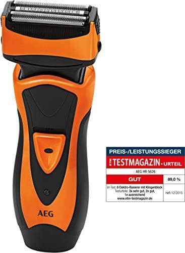 AEG HR 5626 - Afeitadora eléctrica, color negro y naranja: AEG ...