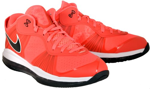 Nike Lebron 8 V / 2 Laag Zonne-rood / Solar Rood-blk-wit