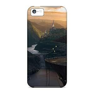 Fashion KOuGLAX2278EBsEb Case Cover For Iphone 5c(fantasy Art Scenery Vii)