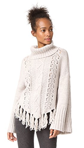 cupcakes and cashmere Women's Prilla Cable Knit Sweater, Latte, X-Small by cupcakes and cashmere
