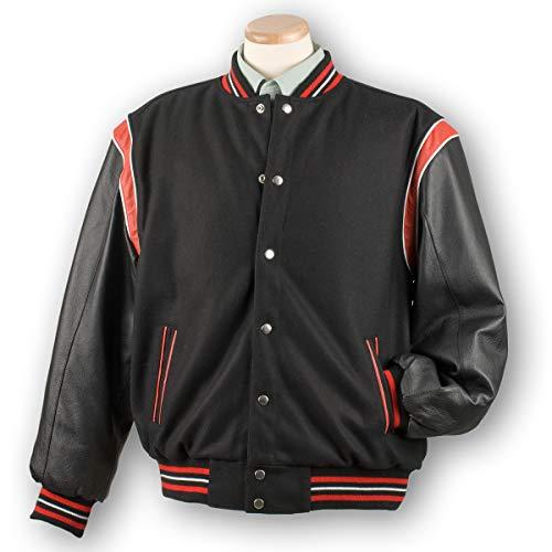 (Burk's Bay Varsity Letterman's Wool and Leather Jacket | Baseball Jacket Reversible- Men's (XXX Large))