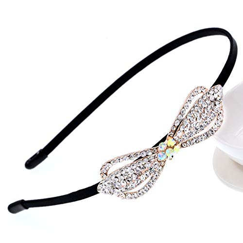 (ORCHILD Flora flower headband Korean Jewelry Shine Rhinestone Headband Flower Flora Princess Bride Headdress Tiara Crown Cute Girls Hair Accessories Headbands)