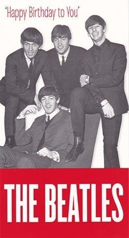 The Beatles Happy Birthday Card Amazon Kitchen Home
