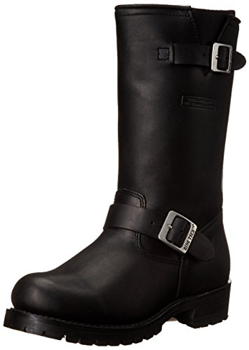 Mens Black Engineer Boots - 2
