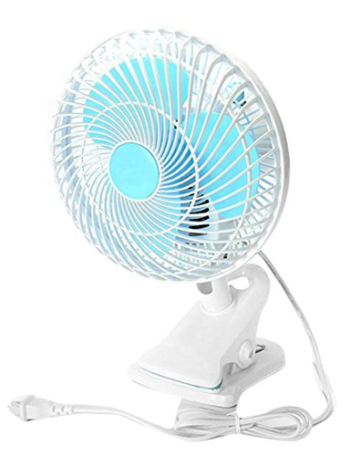 Cromoncent Energy Small Adjustable Head Clip Fan Air Circulation Usb On table Bedroom °ì Fan Blue US One Size by Cromoncent