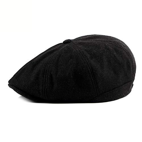 Moda Sombreros hat y cálidas de C qin de de B Mediana Gorras Gorros Lana octogonales de Terciopelo GLLH otoño Hombre Edad de Gorras e de Boinas Invierno pU4xfwWq5