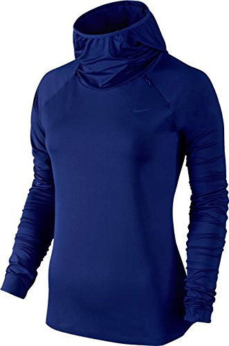 Nike Womens Element Hoodie - Large - Deep Royal Blue/Reflective Silver