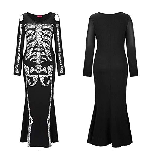 amp;mx X De FemmesRobe Squelette Halloween Costume Noire xxl OPw8kXn0