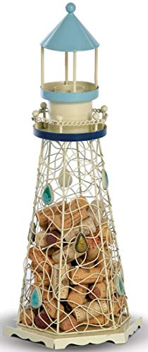 - Lighthouse Cork Caddy Cork Holder by Picnic Plus-White 18
