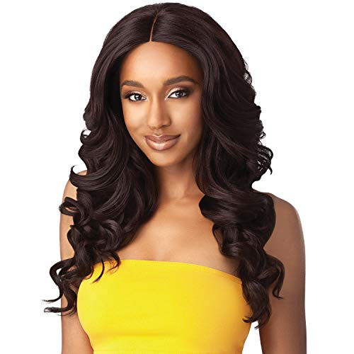 Outre Synthetic Hair Wig The Daily Wig Hand-Tied Lace Part Wig Samara (1) ()