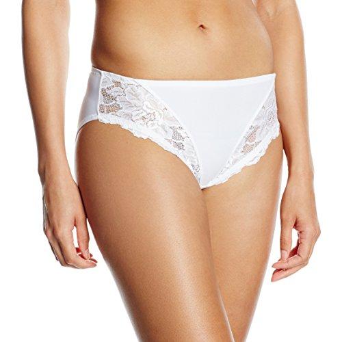 Jolidon Culotte Crisantemo Lady Classic, Braguita para Mujer blanco