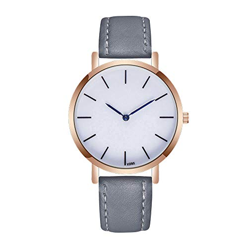 Men Watches,Becoler Women Men's Leather Rose Gold Case Alloy Analog Quartz Wrist Business Watch Casual New Fashion,Gift