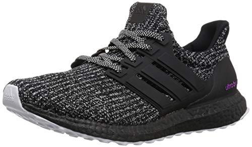adidas Men's Ultraboost Running Shoe, Cloud White/Black/Shock Pink, 8 M US