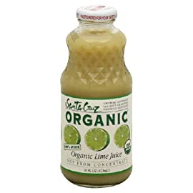 Santa Cruz Organic 100 Percent Lime Juice, 16 Ounce -- 12 per case. 2 Santa Cruz Organic Pure Juice - Lime - Pack of 12 95%+ Organic