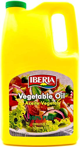 Iberia 100% Pure Vegetable Oil, 96 oz, Cholesterol & Sodium
