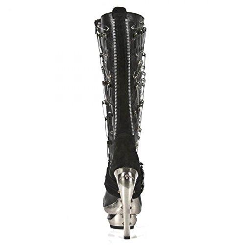 New Rock Boots M.rock205-c1 Urban Hardrock Punk Damen Stiefel Schwarz