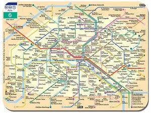 Le Metro Map Paris Metro Map Mouse Mat. Le Metro De Paris Poster: Amazon.co.uk