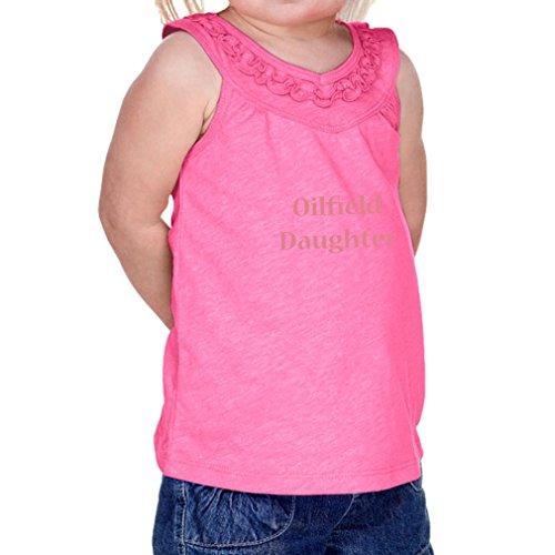 Cute Rascals Oilfield Daughter Infants Jersey V Neck Ruffle Yoke Tank Hot Pink 12 (Yoke Oil)