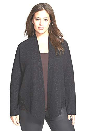 Eileen Fisher Merino Wool Cotton Charcoal Shaped Jacket S M L MSRP $318 (Medium)