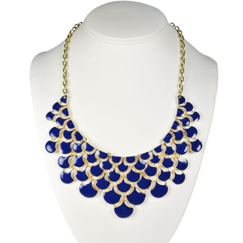 Wrapables Dark Teardrop Statement Necklace