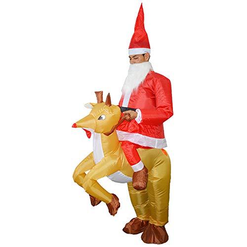 Disfraz de Papá Noel hinchable, ropa de reno, accesorio hinchable ...