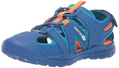 Geox Vaniett Boy 3 SP Closed Toe Sandal Sport, blu Orange, 28 Medium US Little Kid