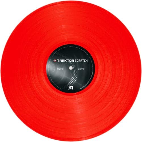 Native Instruments Traktor Scratch Control Vinyl MK2 - Red (Single Vinyl)