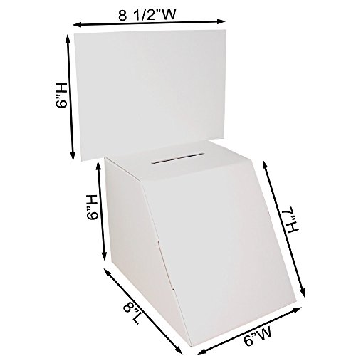 Cardboard Ballot Box with White Removable Header (Carton of -