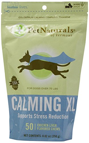 Pet Naturals of Vermont Calming XL Bone-Shaped Chews 8.82oz- 50count