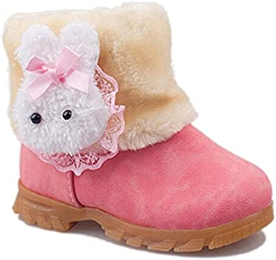 Girls Infant Toddler Winter Shoes Rabbit Warm Winter Boots
