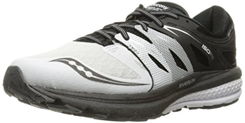 Saucony Men's Zealot ISO 2 Reflex running Shoe, White/Black/Sil, 10 M US