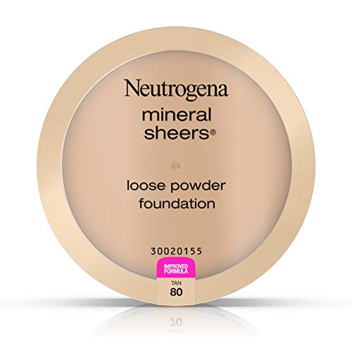 Neutrogena Mineral Sheers Loose Powder Foundation, Tan 80, .19 Oz.