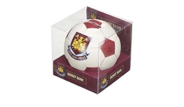 West Ham United - Hucha con diseño de balón de fútbol: Amazon.es ...