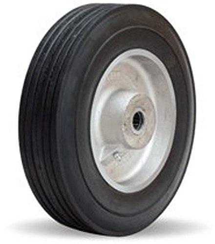 10'' x 2'' Super-Flex Rubber Wheel, 700 lb Capacity, 2-3/4'' Hub