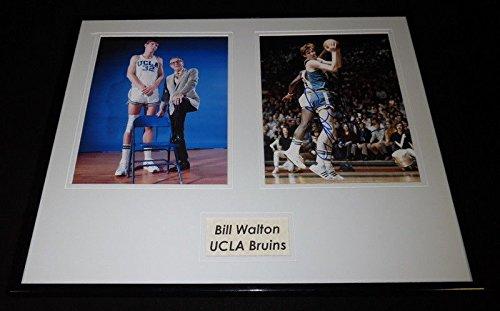 Bill Walton Signed Framed 16x20 Photo Set UCLA Bruins w/John Wooden ()