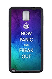 Generic Custom Picture Panic And Freak Out Quote TPU Rubber Snap On Skin Cover Back Cell Phone Case For Samsung Note 3