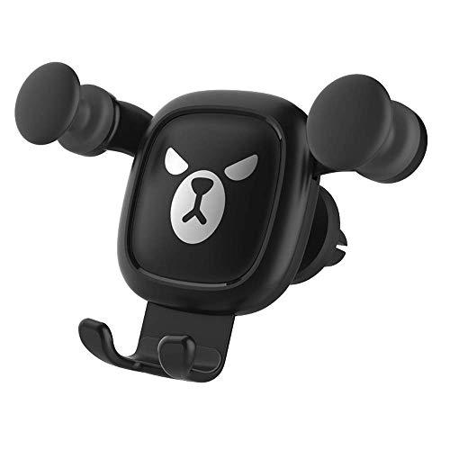 Car Phone Holder, Gravity car Phone Holder for car Vents, Angry Bear Navigation Bracket 360° Rotation, (Best Holder Cradle For Es)