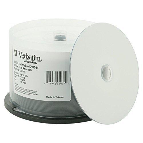Verbatim DVD-R DataLifePlus White Inkjet Hub Printable 16x