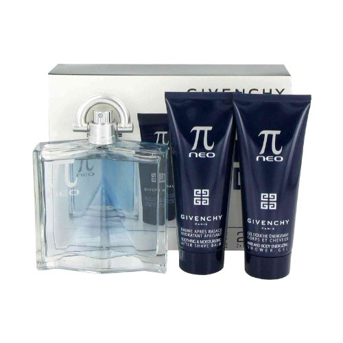 Perfume Givenchy Gel (Pi Neo by Givenchy Gift Set -- 3.4 oz Eau De Toilette Spray + 2.5 oz After Shave Balm + 2.5 oz Shower Gel for Men)