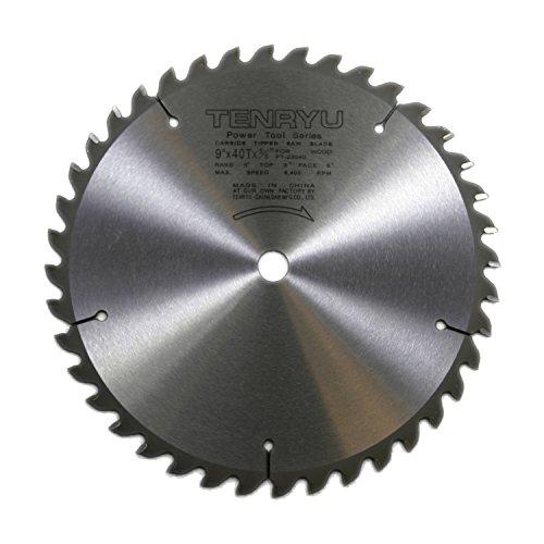 "Tenryu PT-23040 9"" Carbide Tipped Saw Blade ( 40 Tooth ATAF Grind - 5/8"" Arbor - 0.087 Kerf)"