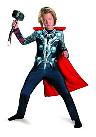 Avengers Thor Classic Costume, Red/Silver/Blue, X-Small